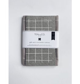 Ten and Co. Gift Set Grid Grey