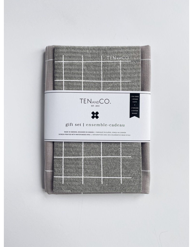 TEN AND CO. GIFT SET - GRID GREY