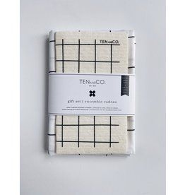 Ten and Co. Gift Set Grid Black