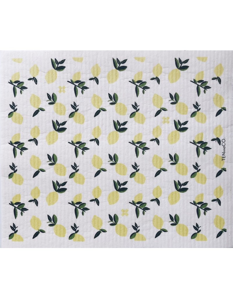 TEN AND CO. LARGE SPONGE CLOTH MAT - CITRUS LEMON