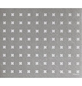 Ten and Co. Large Sponge Cloth Mat Tiny X Grey