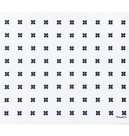 Ten and Co. Large Sponge Cloth Mat Tiny X White
