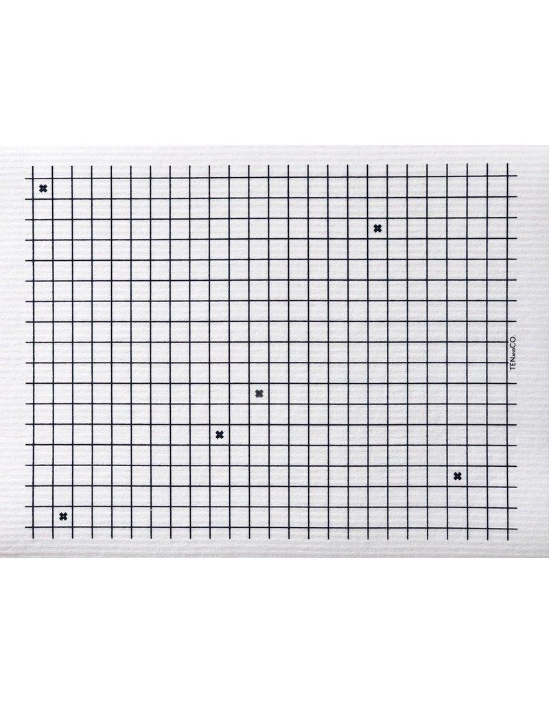 Ten and Co. XL Graph Sponge Cloth Mat