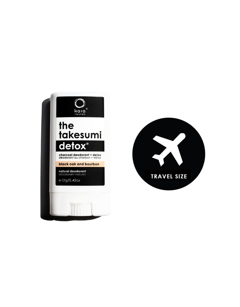 Kaia Naturals The Takesumi Detox Black Oak + Bourbon Charcoal Deodorant