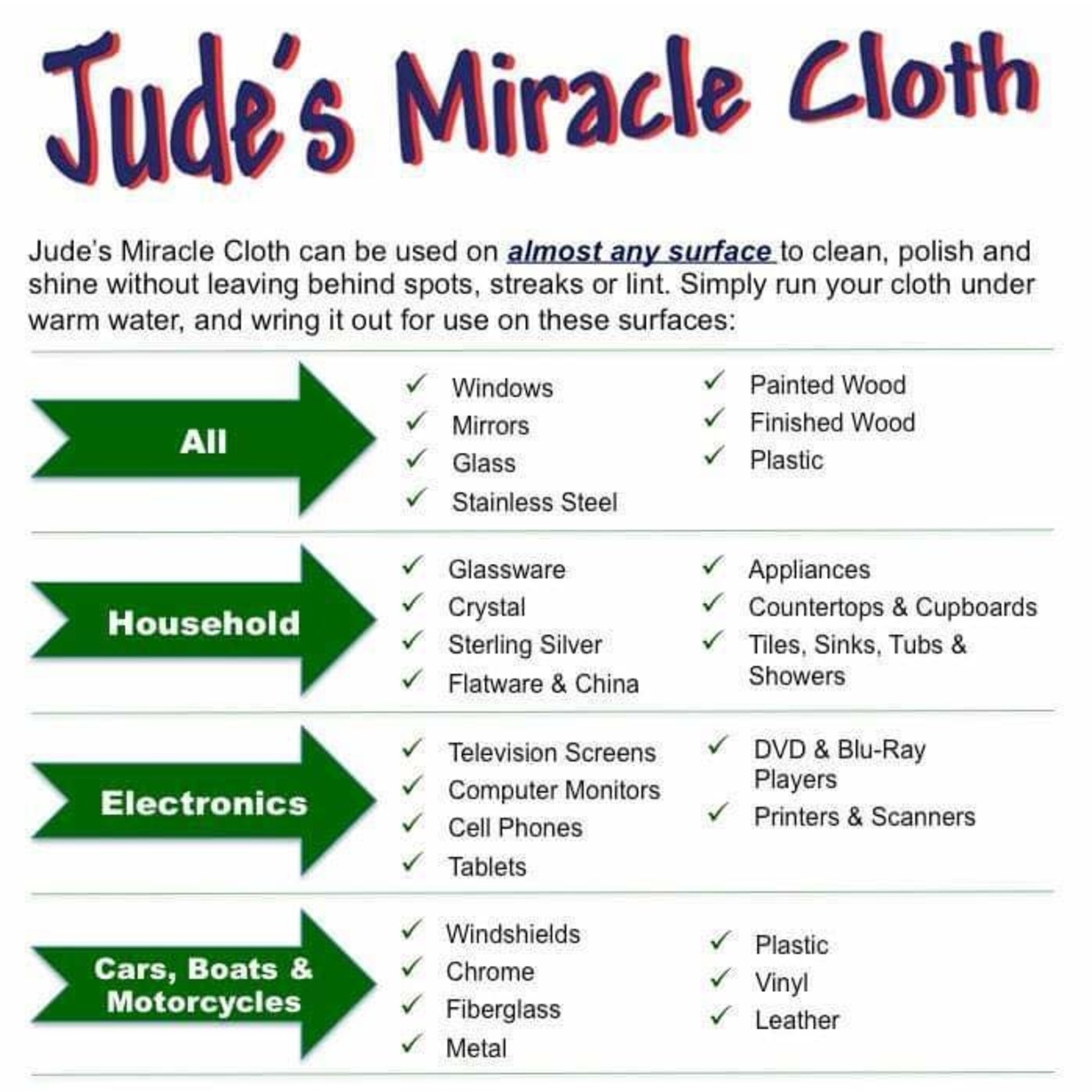 JUDE'S MIRACLE CLOTH 2 PACK GREY CAR CLOTHS