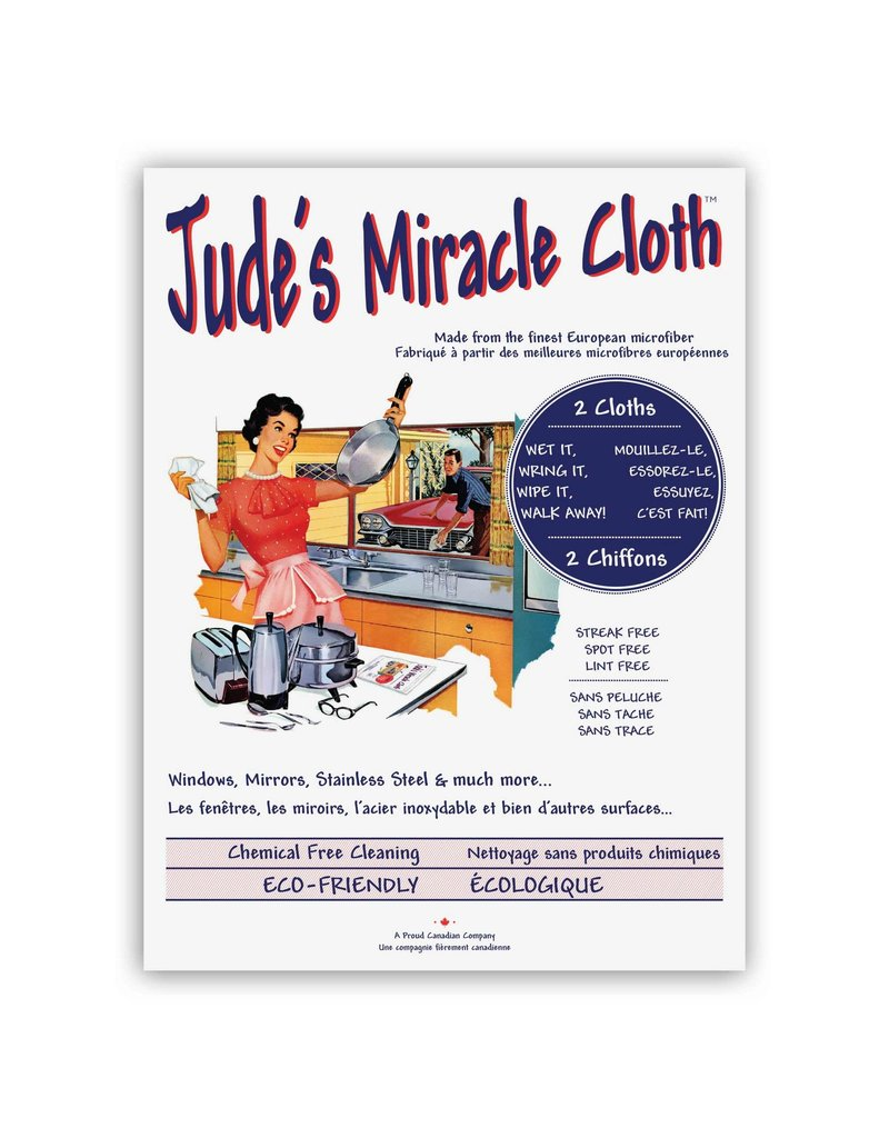 Jude's Miracle Cloth 2 Pack White + Blue