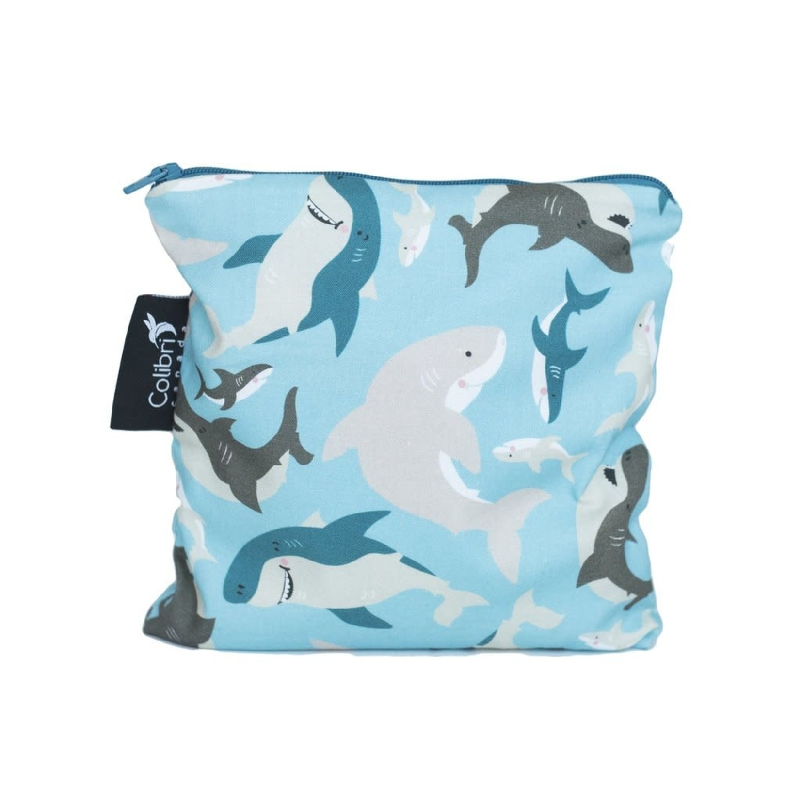 REUSABLE SNACK BAGS - SHARKS