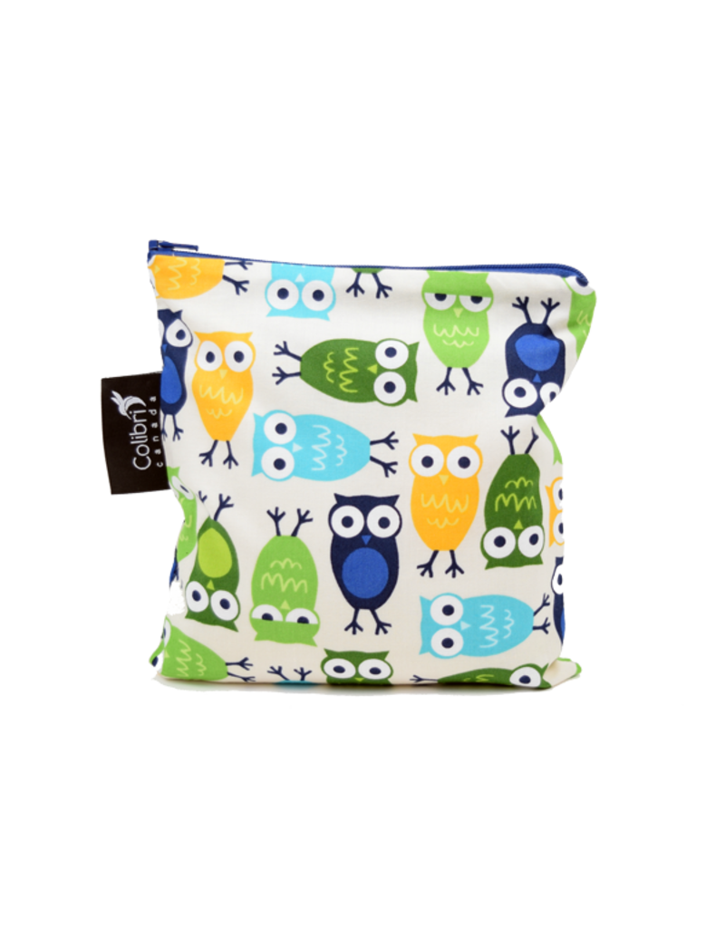 REUSABLE SNACK BAGS - OWLS
