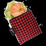 COLIBRI CANADA REUSABLE SNACK BAGS - PLAID (3 Sizes)