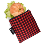 REUSABLE SNACK BAGS - PLAID (3 Sizes)