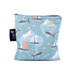 COLIBRI CANADA REUSABLE SNACK BAGS - NARWHAL (2 Sizes)