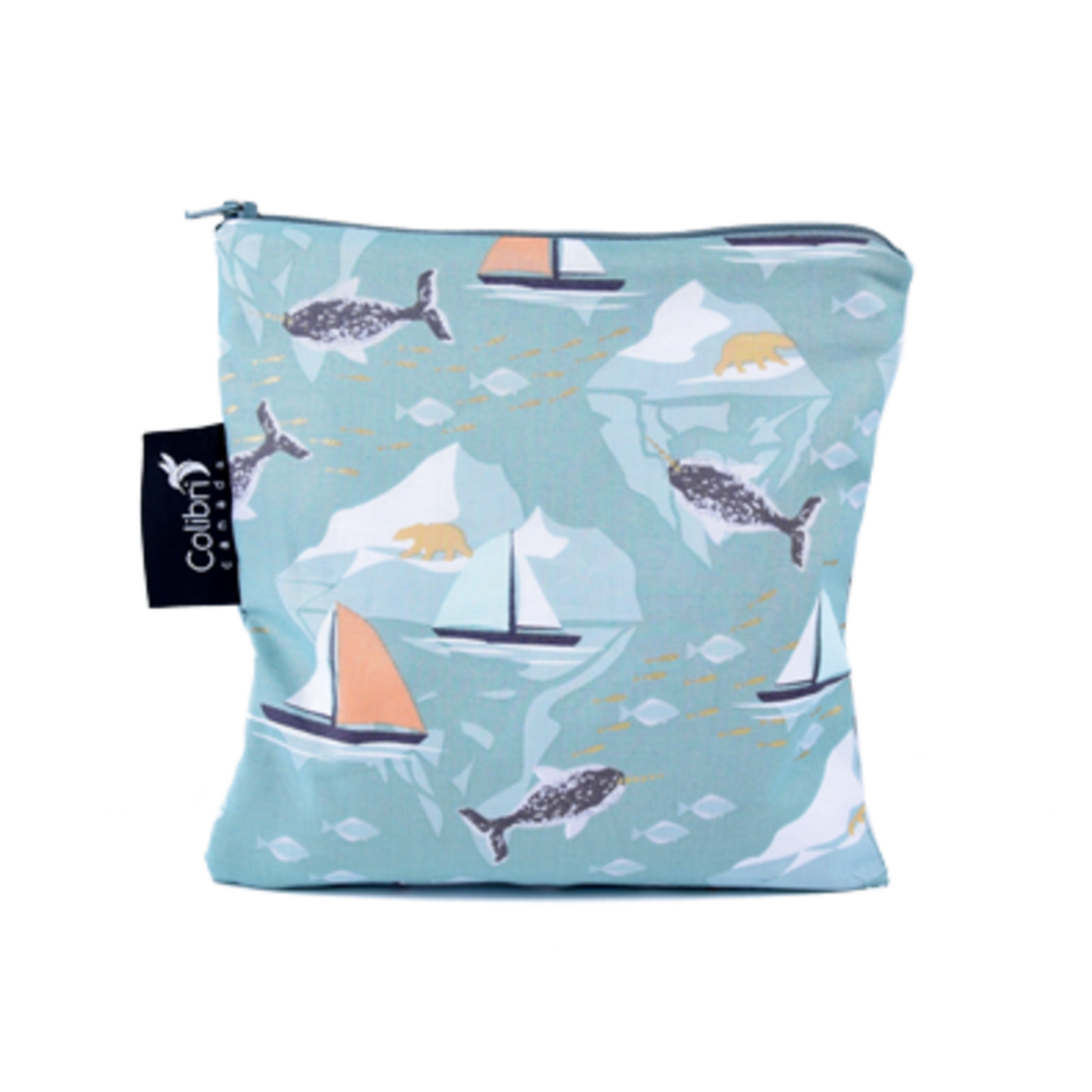 COLIBRI CANADA REUSABLE SNACK BAGS - NARWHAL