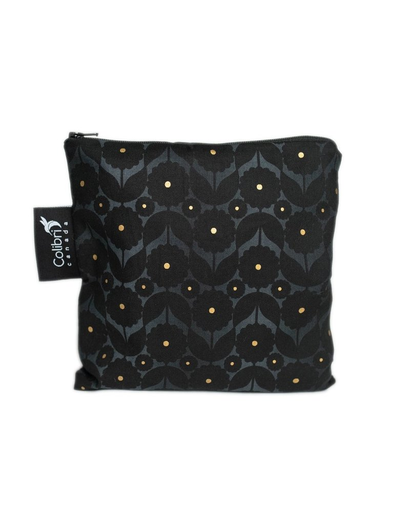 REUSABLE SNACK BAGS - MIDNIGHT FLOWER