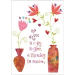 LOVE IS A JOY TO GIVE CARD