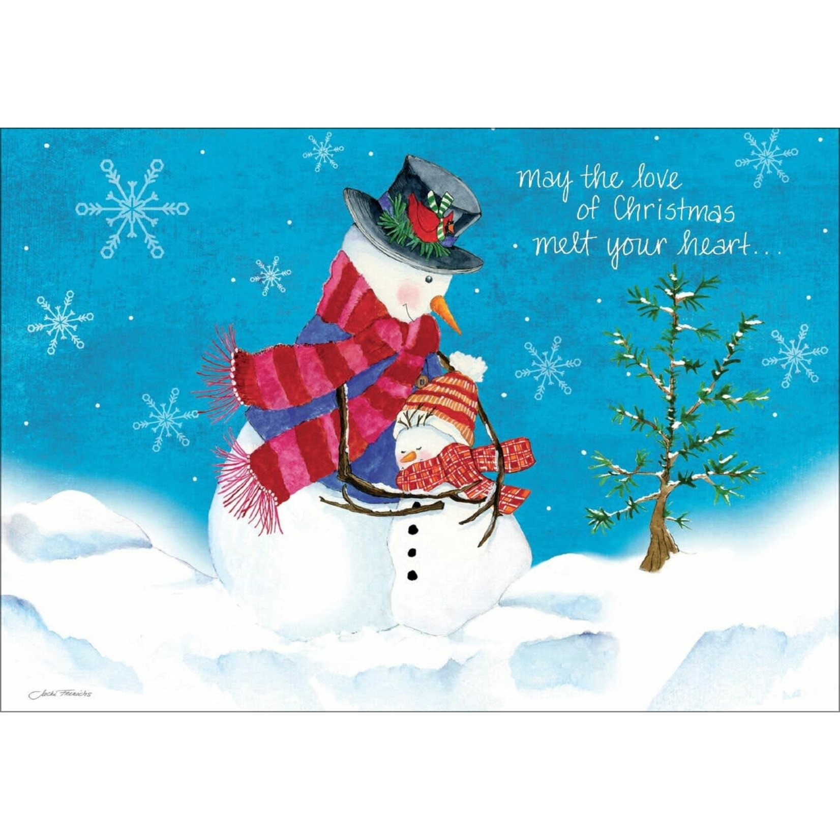 HUGGING SNOWMEN CARD