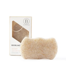 BATHORIUM KONJAC WALNUT SHELL EXFOLIATING BATH SPONGE