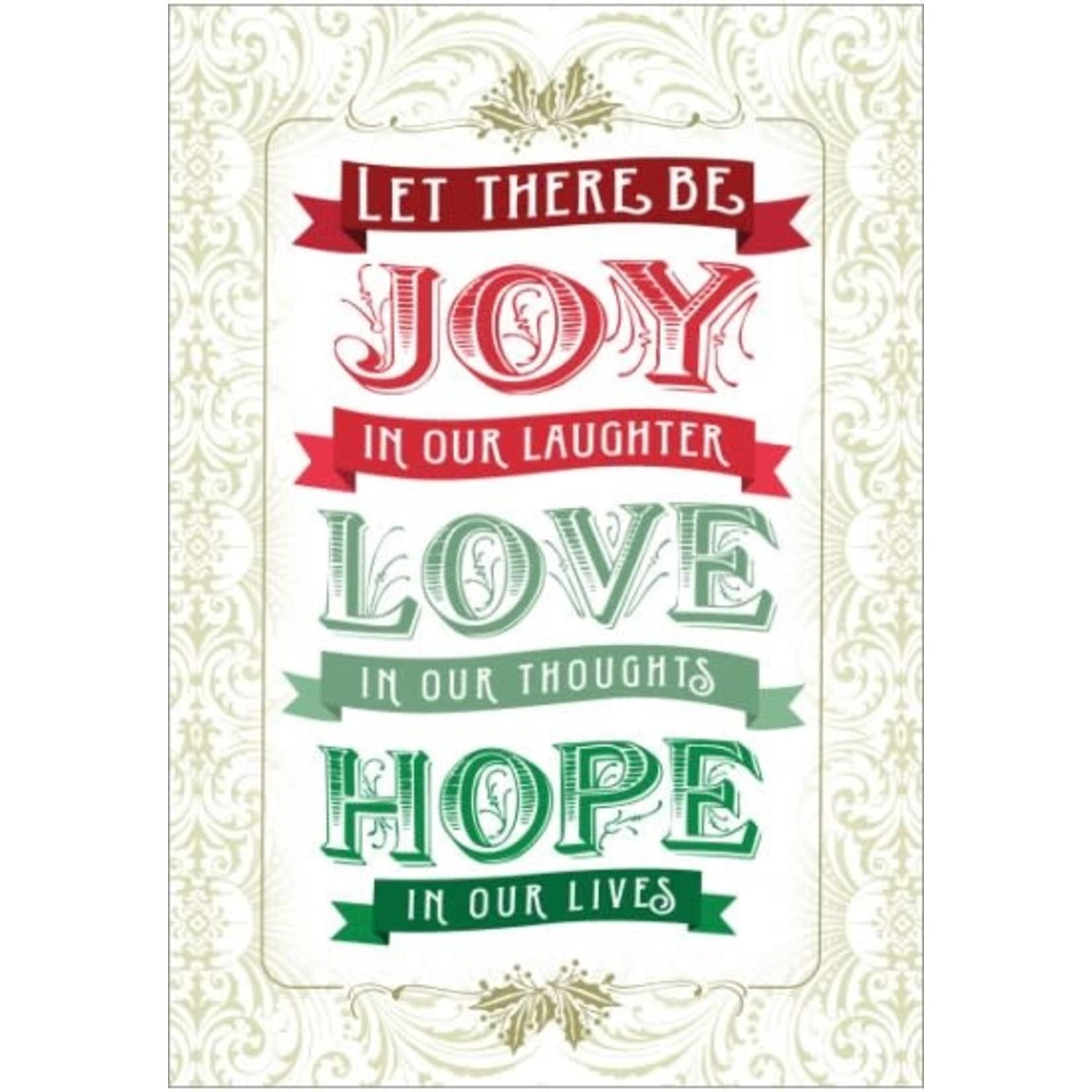 JOY LOVE HOPE CARD
