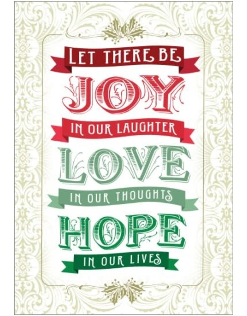 JOY LOVE HOPE CARD