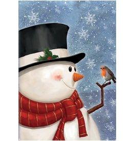 HAPPY SNOWMAN + BIRD CARD