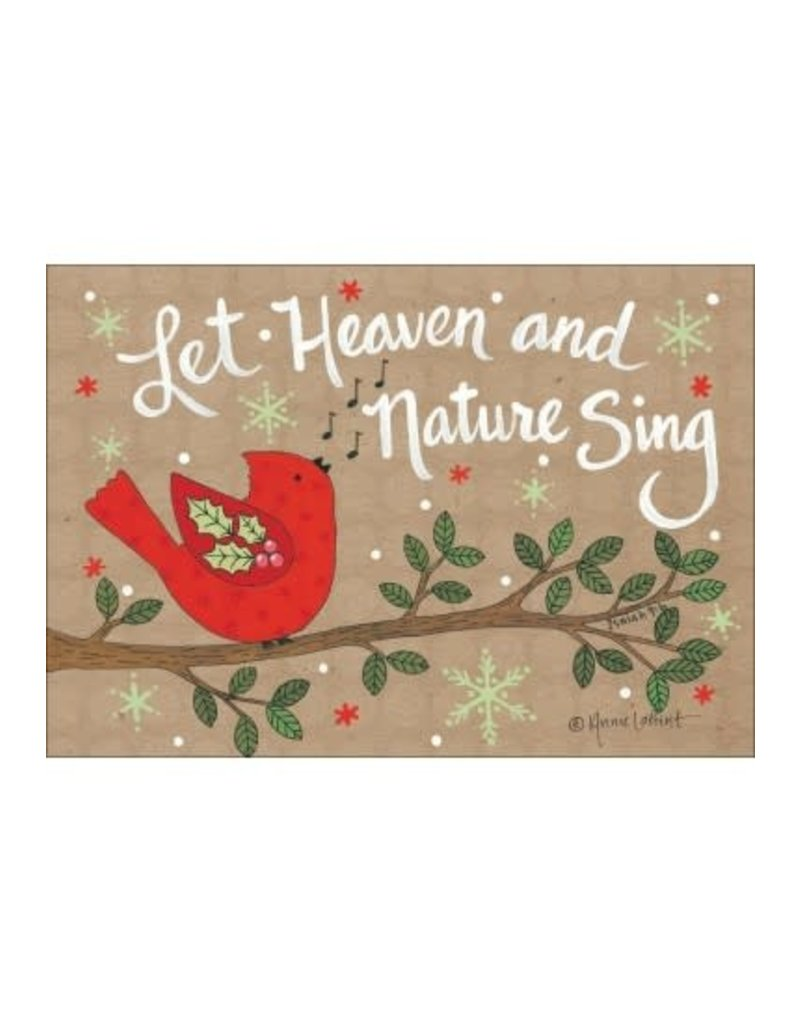 LET HEAVEN AND NATURE SING CARD