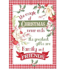 CHRISTMAS MAGNOLIAS CARD