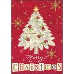 MERRY CHRISTMAS SHEET MUSIC TREE CARD