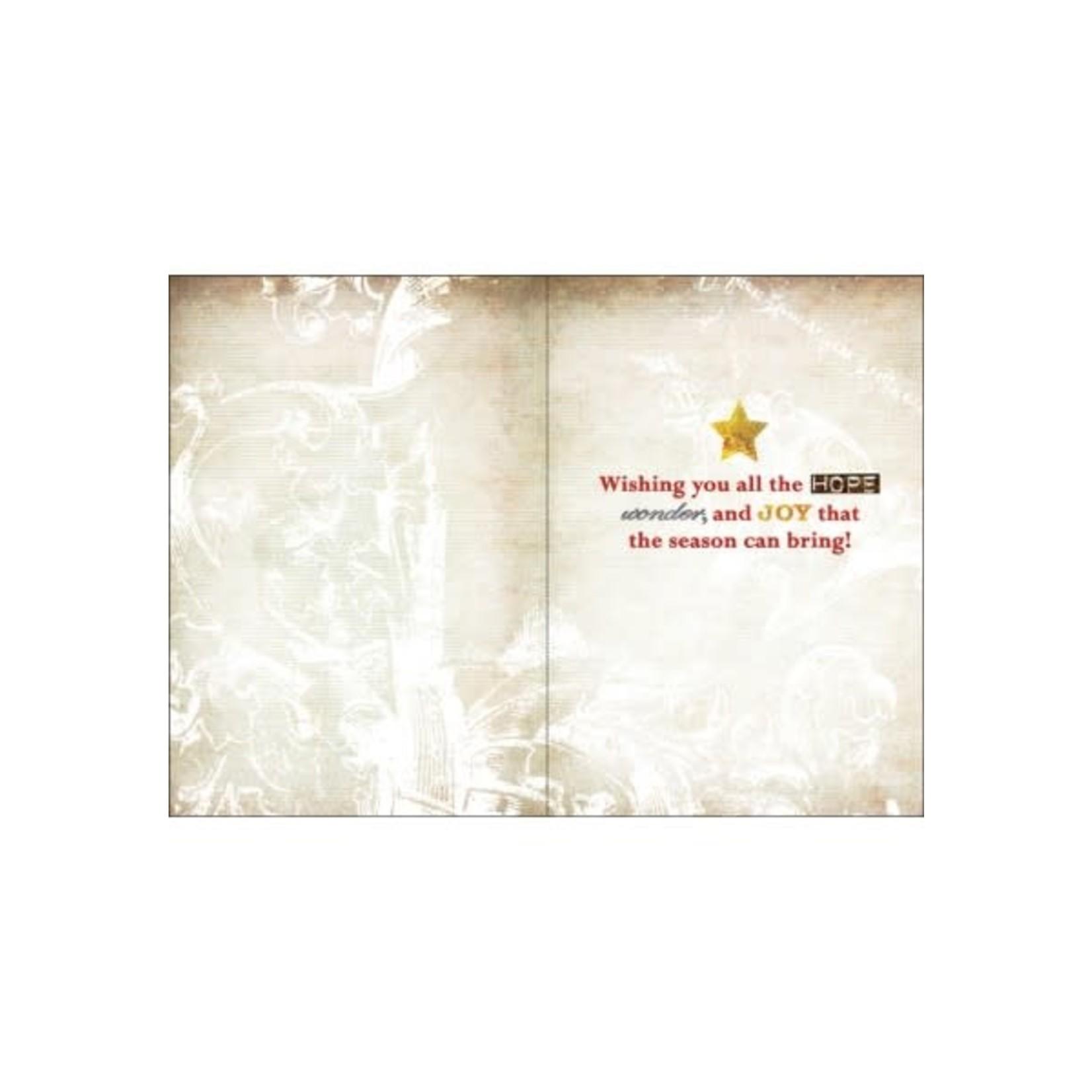 JOY TO THE WORLD CHRISTMAS TREE CARD