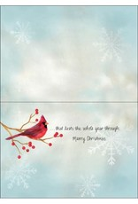 RED CARDINALS CHRISTMAS CARD