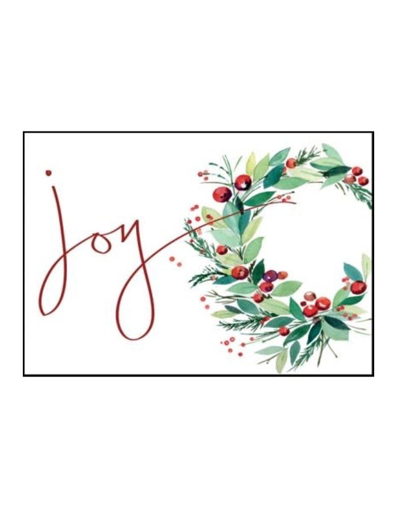 JOY WREATH CARD