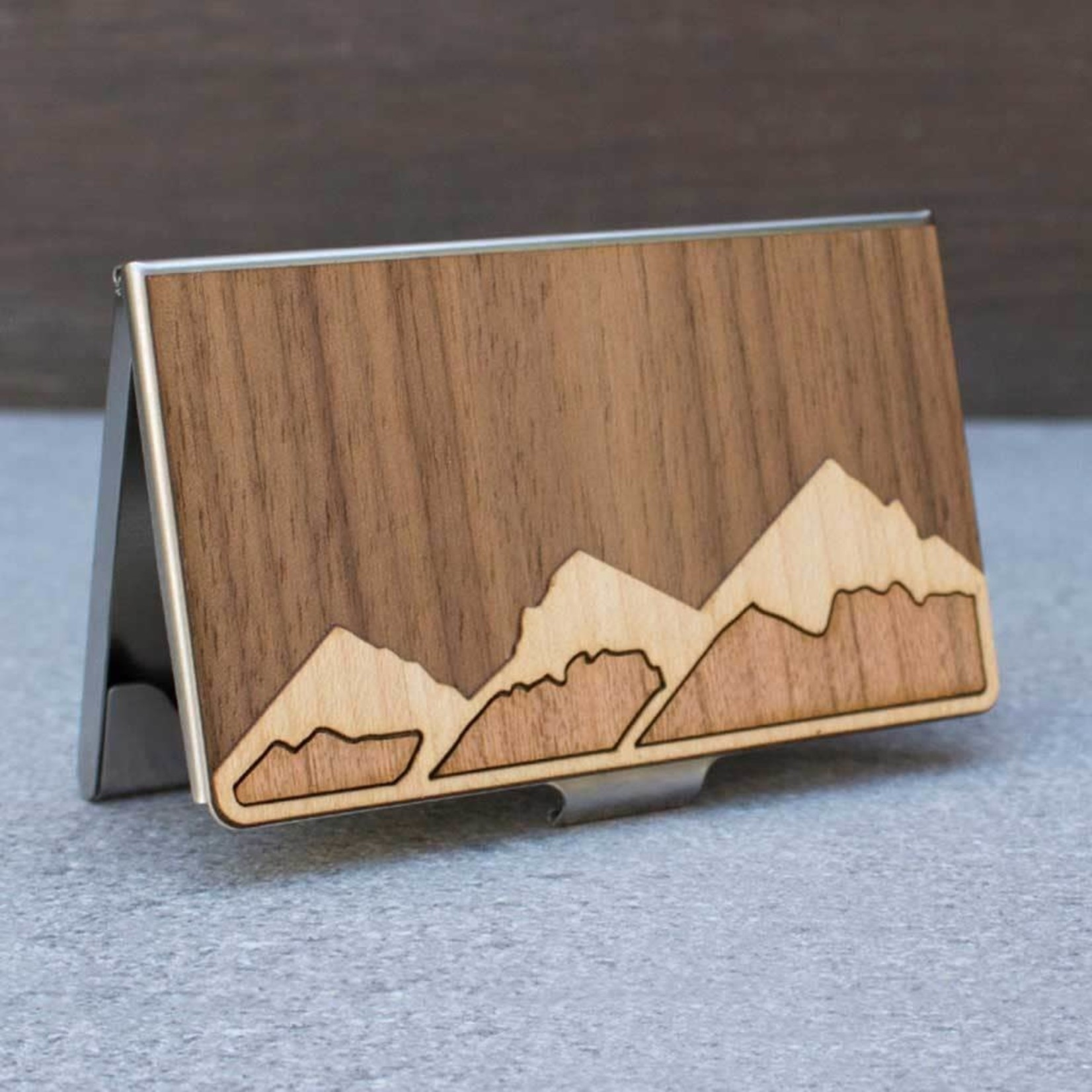 TREELINE AND TIDE CARD CASE - MOUNTAINS