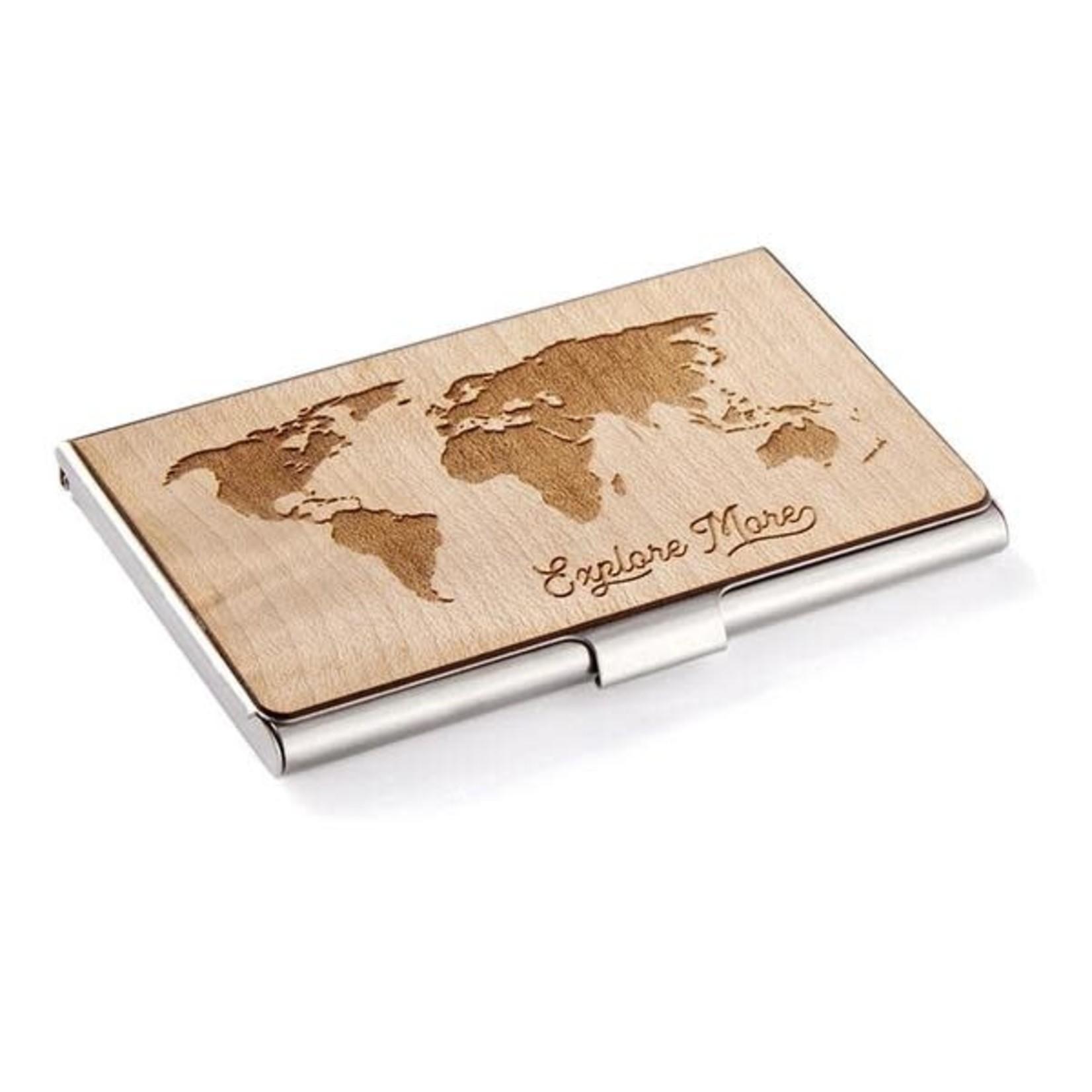 CARD CASE - WORLD MAP