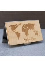 CARD CASE - WORLD MAP