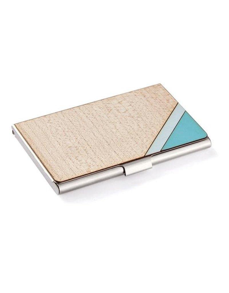 CARD CASE - STRIPE BLUE
