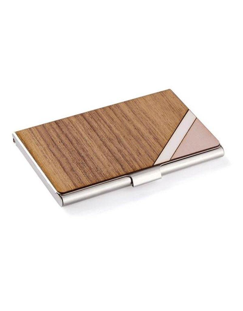 CARD CASE - PINK STRIPE