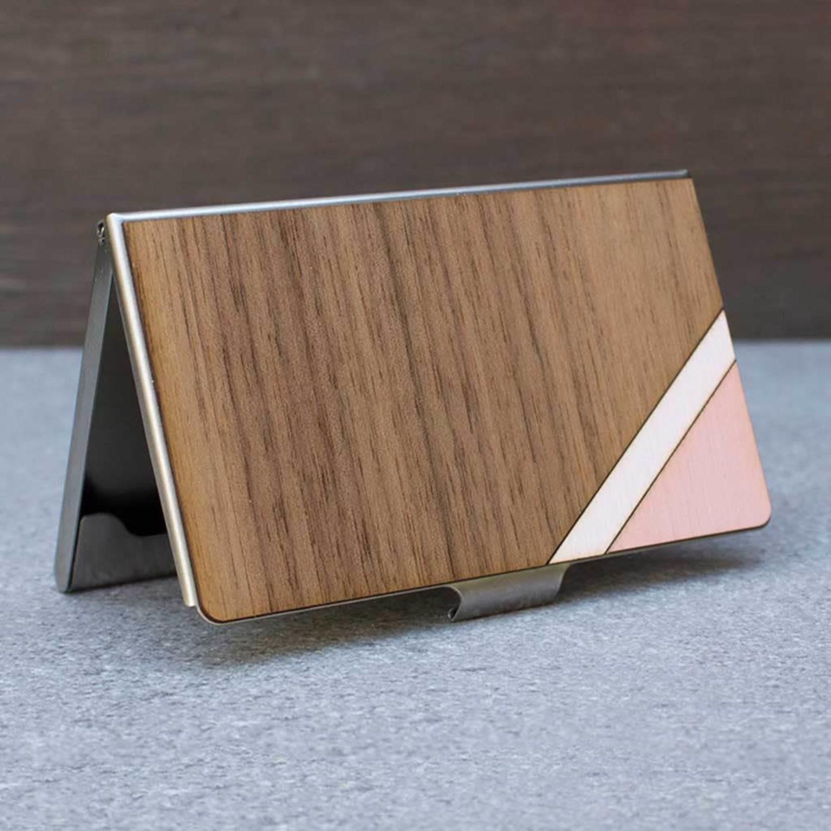 TREELINE AND TIDE CARD CASE - PINK STRIPE