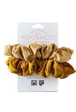 KOOSHOO ORGANIC SCRUNCHIES - GOLD SAND