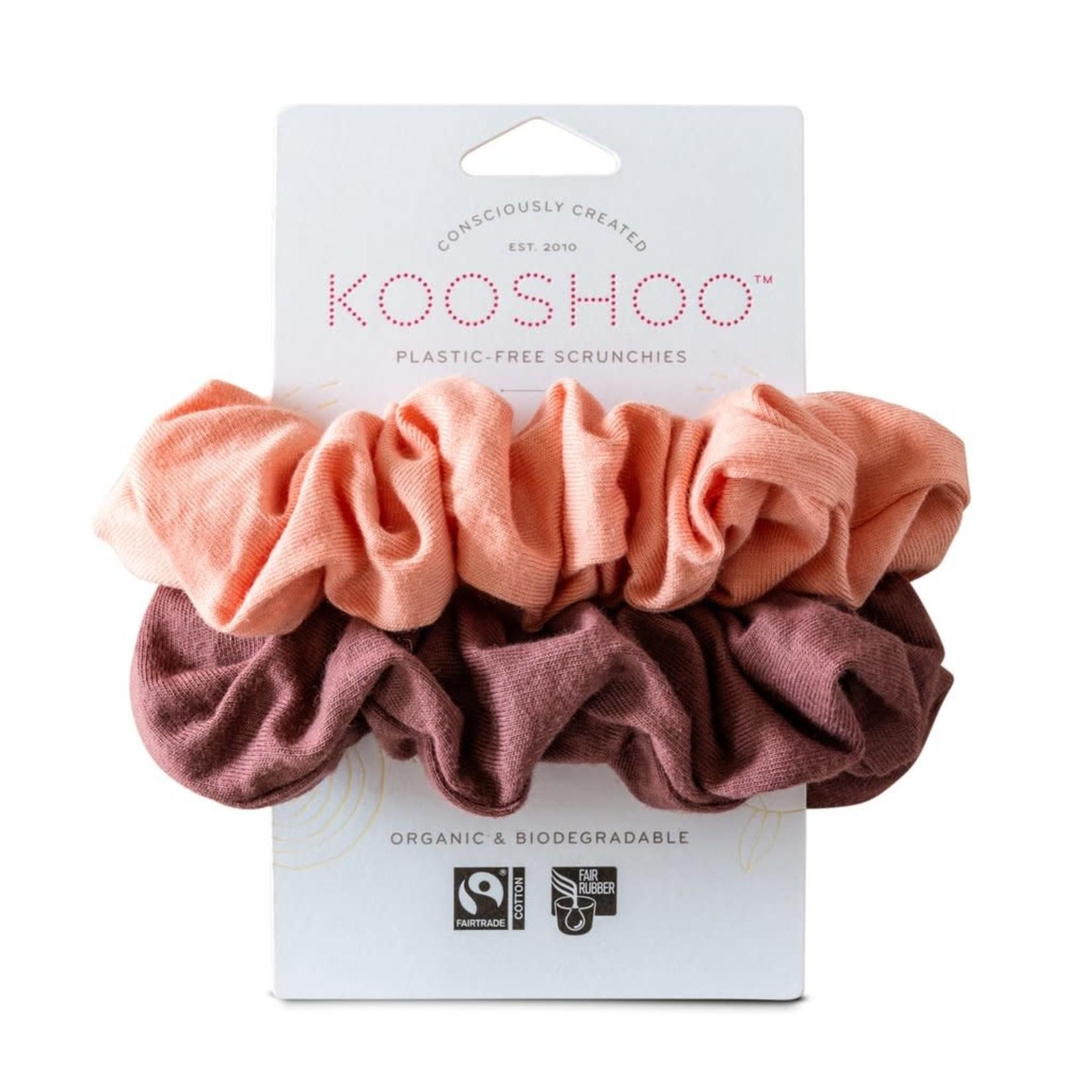 KOOSHOO ORGANIC SCRUNCHIES - CORAL ROSE