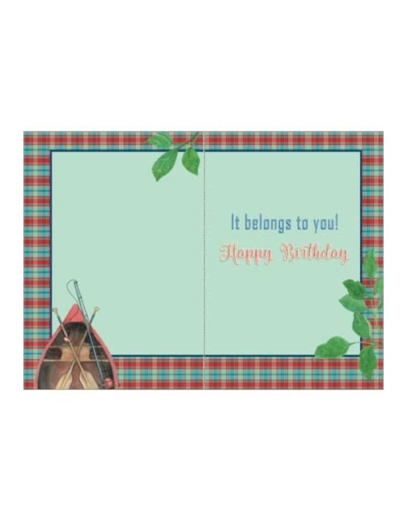 ROWBOAT BIRTHDAY CARD