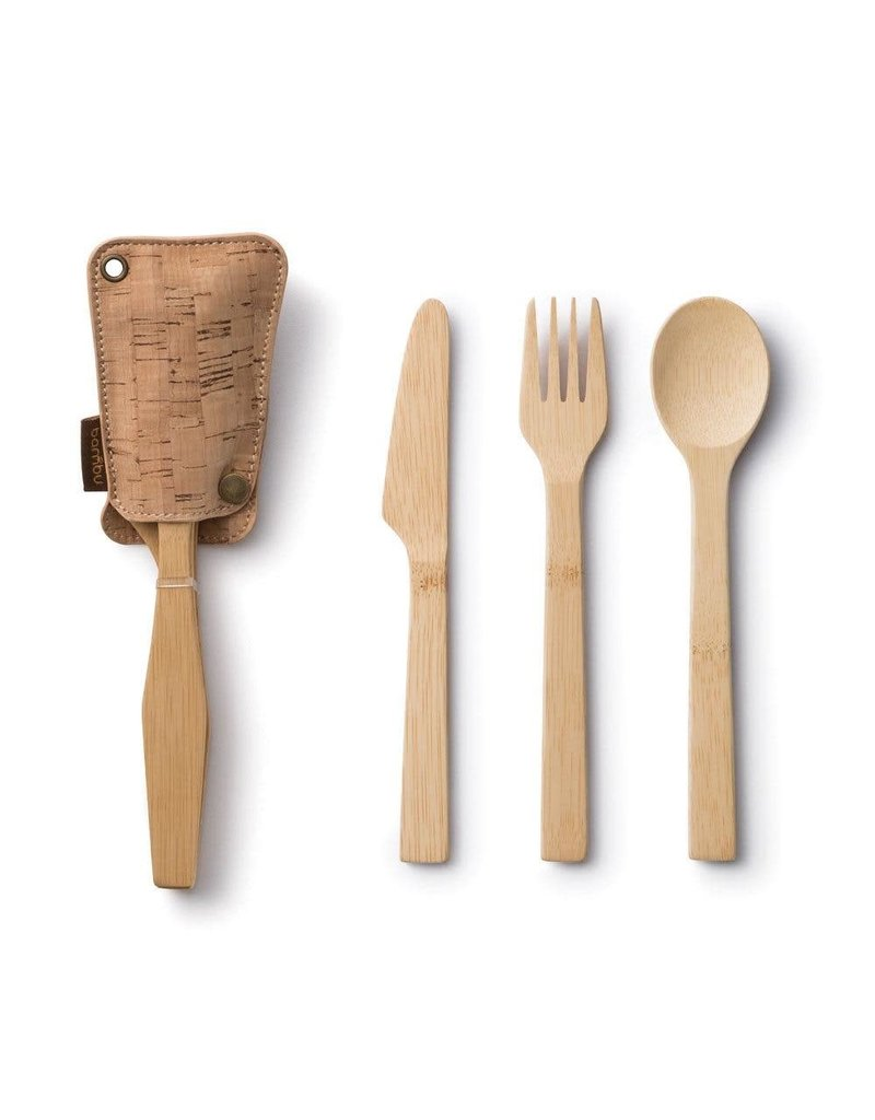 BAMBU TRAVEL CUTLERY SET - CORK