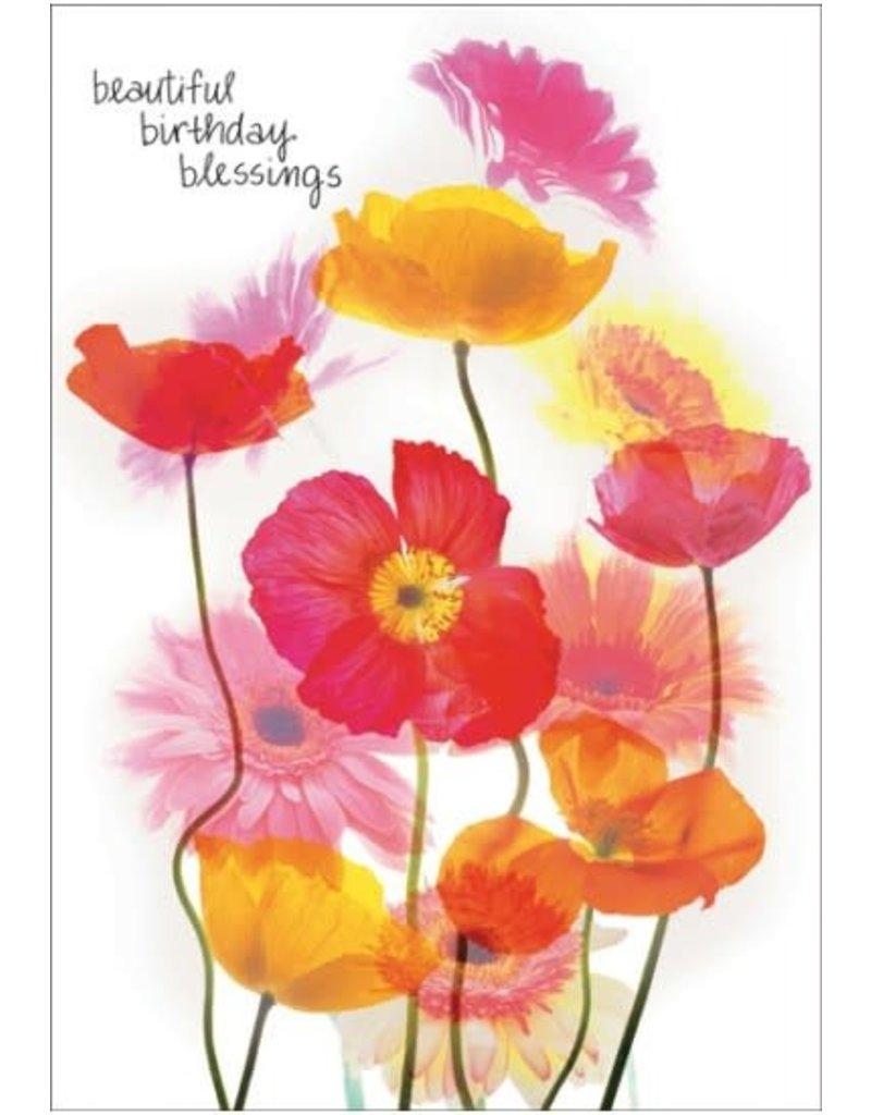 BEAUTIFUL BIRTHDAY BLESSINGS CARD