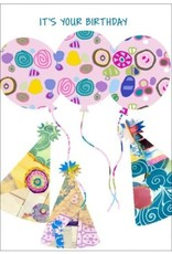 BALLOONS + PARTY HATS CARD