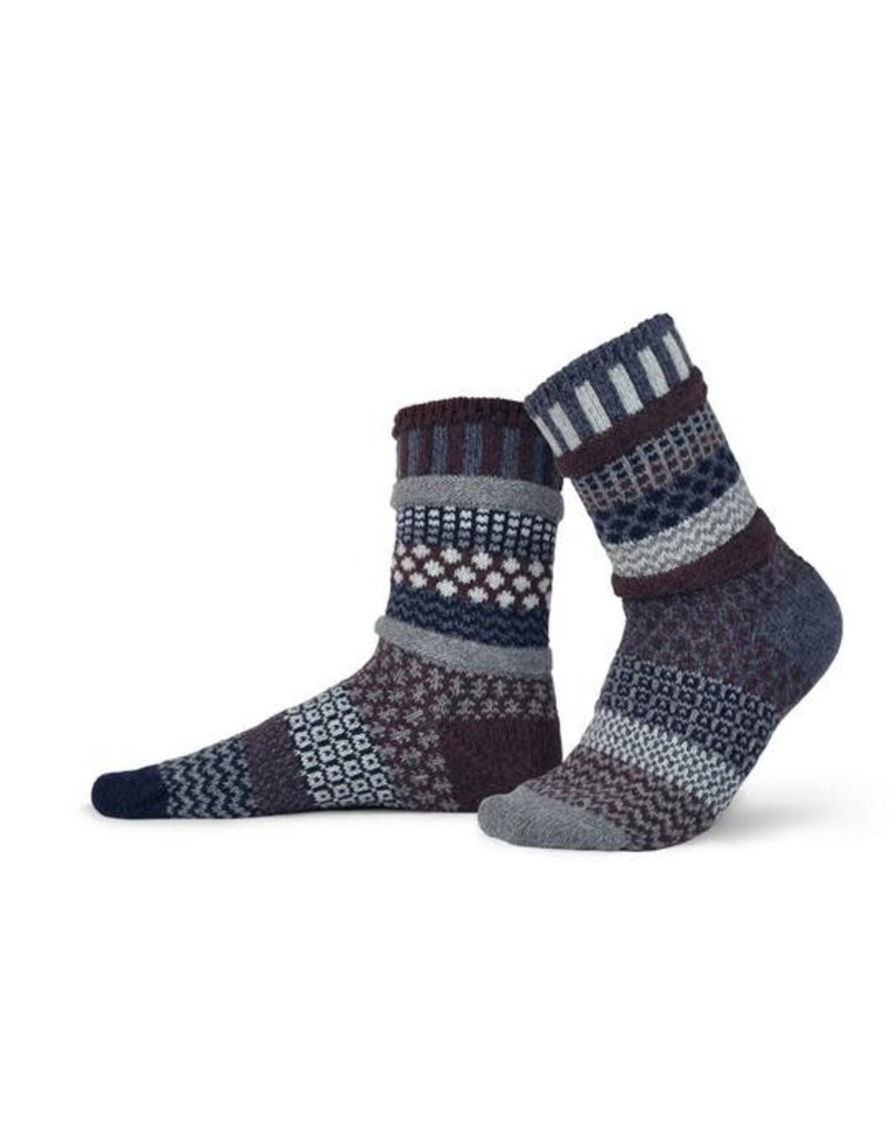WOOL MAHOGANY CREW SOCKS
