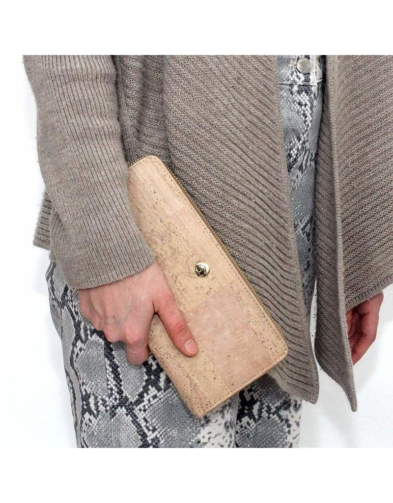 ANELISE LUXE CORK WALLET - NATURAL