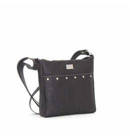 SNOW CORK MESSENGER PURSE - BLACK