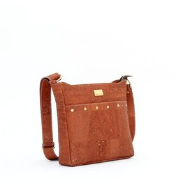 SNOW CORK MESSENGER PURSE - SALTED CARAMEL