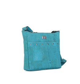 SNOW CORK MESSENGER PURSE - TURQUOISE