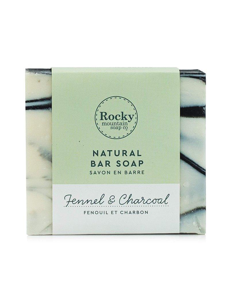ROCKY MOUNTAIN SOAP CO. BIG BEAUTIFUL BAR SOAP - FENNEL + CHARCOAL