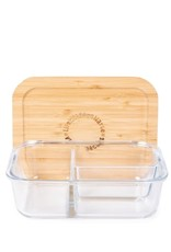 LIFE WITHOUT WASTE DIVIDED GLASS CONTAINER - MEDIUM 3 COMPARTMENT