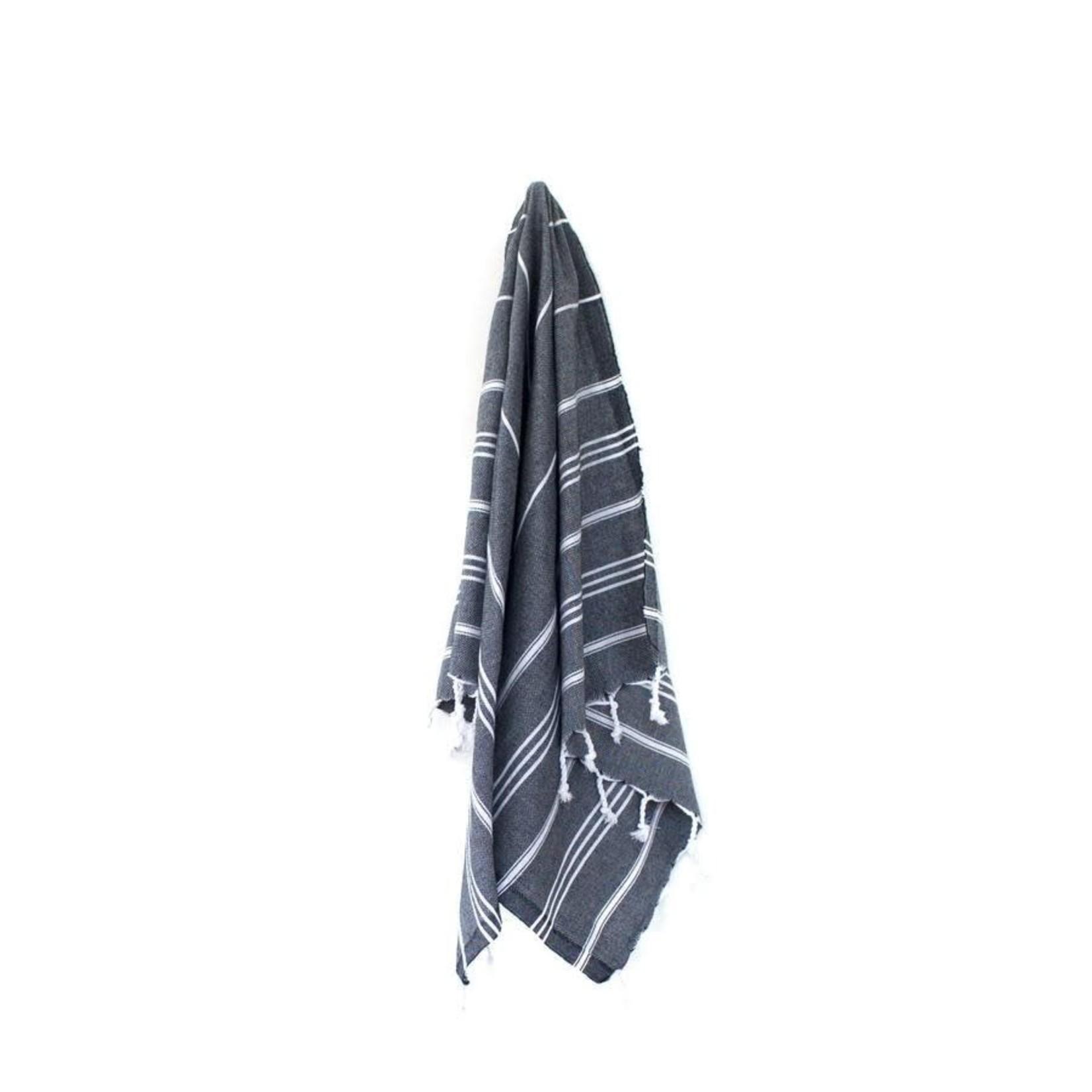 STRAY + WANDER MARIN SMALL TOWEL - BLACK