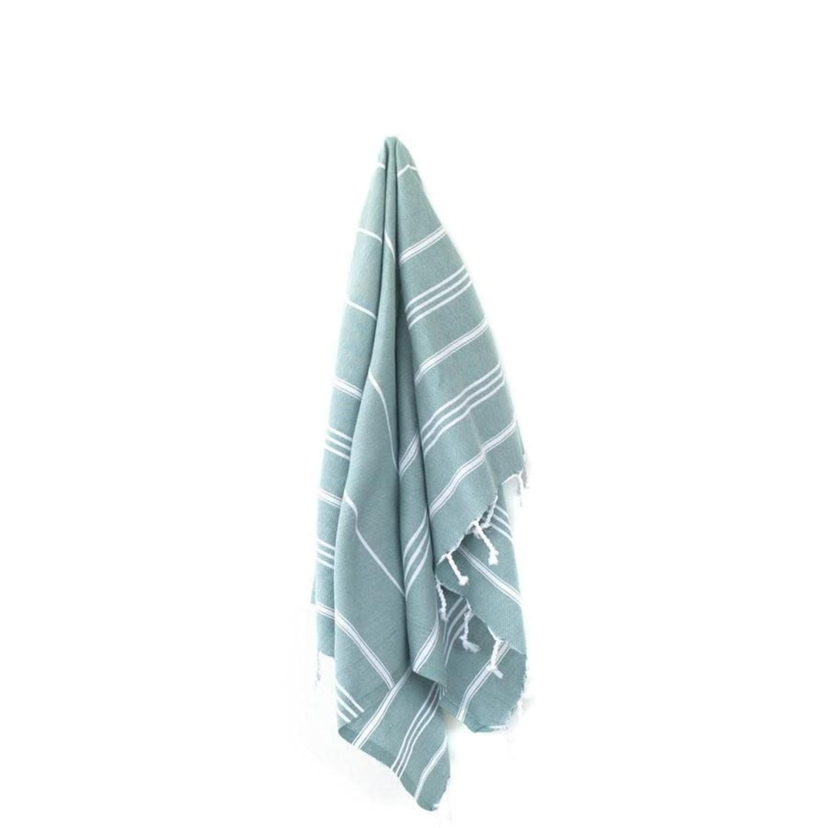 STRAY + WANDER MARIN SMALL TOWEL - GREEN